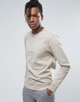Selected Crew Neck Sweatshirt in Soft Touch Jersey