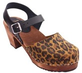 Lotta Clogs Lotta clogs - Lottas Clogs High Wood Leopard Print And Black Leather In Dark Brown Base - 38