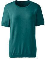 Classic Women's Regular Short Sleeve Performance Sweater-Tropic Teal