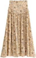 Goodnight Macaroon 'Hafsah' Floral Midi Flare Skirt