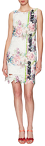 Donna Ricco Floral Scalloped Print Dress