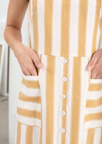 Thumbnail for your product : And other stories Striped Cotton Linen Midi Dress