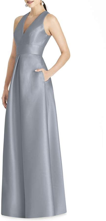 Alfred Sung Sleeveless Sateen Gown