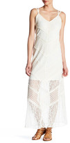 Adelyn Rae V-Neck Woven Lace Maxi Dress