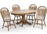 Asstd National Brand Oakmont 48 Pedestal 5-pc. Dining Set - Side Chairs