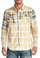 Cult of Individuality Clint Plaid Cotton Casual Button-Down Shirt