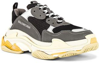 Balenciaga Triple S Sneaker in Grey & Yellow | FWRD