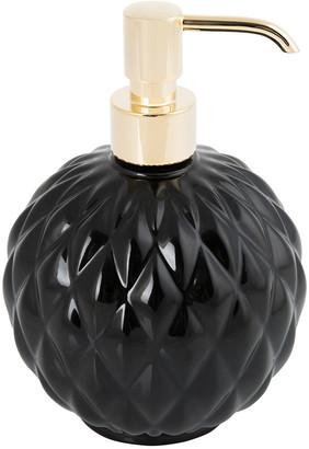 Villari - Black Tie Round Soap Dispenser - Black