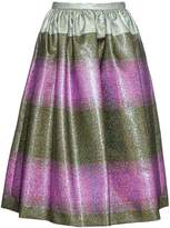 Marco De Vincenzo Metallic-striped midi skirt