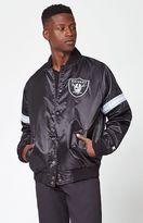 Starter Oakland Raiders Satin Black Bomber Jacket