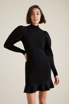 Seed Heritage Blouson Sleeve Crepe Dress