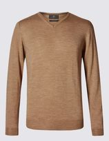 Marks and Spencer Merino Wool Slim Fit Jumper with Silk