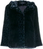 Tagliatore leopard print hooded jacket