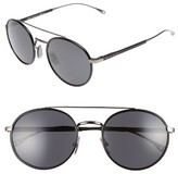 BOSS Men's 55Mm Round Sunglasses - Dark Ruthenium