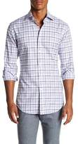 Thomas Dean Dobby Checked Print Regular Fit Woven Shirt