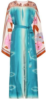Dries Van Noten Embellished silk dress