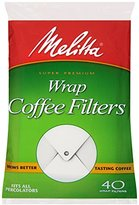 Melitta Coffee Filters for Percolators, Wrap Around, 40-Count Filters (Pack of 12)