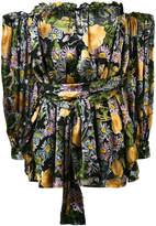 For Love & Lemons floral off-shoulder dress