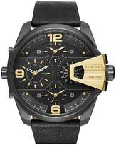 Diesel Men&s Uber Chief Chronograph Leather Strap Watch