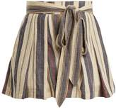 THREE GRACES LONDON Kilman high-waisted striped shorts