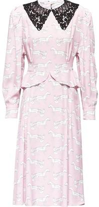 Miu Miu Jockey print flared dress