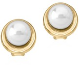 Majorica 18K Goldplated Sterling Silver & 10MM Organic Man-Made Pearl Button Earrings