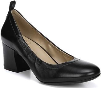 Naturalizer Block Heel Leather Slip-on Pumps -Dalee