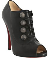 black leather 'Roman 120' button detail booties