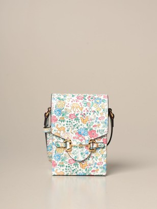 Gucci Liberty Shoulder Bag In Leather With Liberty Print
