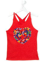 Stella McCartney heart print tank top - kids - Cotton - 14 yrs