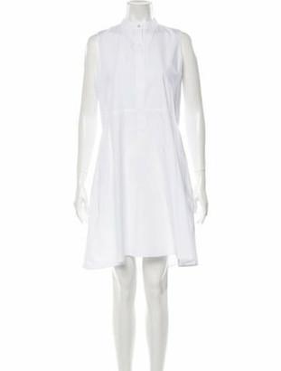 Brock Collection Mock Neck Knee-Length Dress White