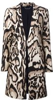 Diane von Furstenberg 'Mahala' leopard print coat