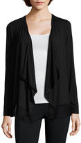 A.N.A a.n.a Long-Sleeve Chiffon-Trim Cardigan