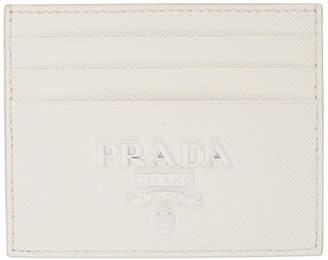 Prada White Monochrome Card Holder