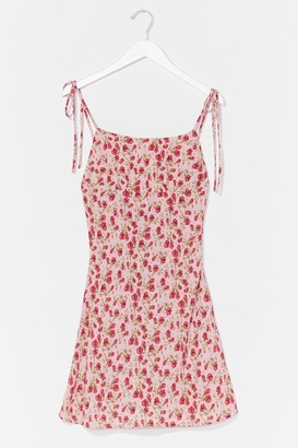 Nasty Gal Womens All Ties On You Floral Mini Dress - Pink