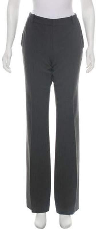 Joseph Mid-Rise Wide-Leg Pants Grey Mid-Rise Wide-Leg Pants