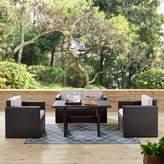 Bronx Spohn 4 Piece Sofa Seating Group with Cushions Ivy Cushion Color: Gray