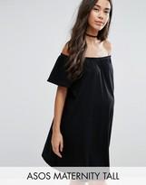 Asos TALL Off Shoulder Mini Dress