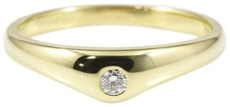 Tiffany & Co. 18K Yellow Gold & Diamond Ring Size 5.25