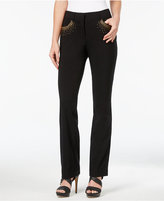JM Collection Petite Embellished Straight-Leg Pants, Only at Macy's