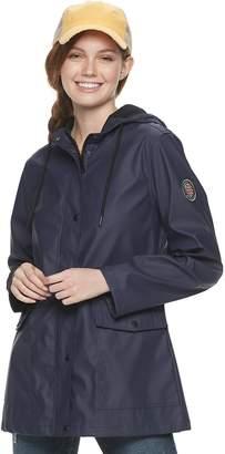 Steve Madden Nyc Juniors' NYC Cargo Pocket Rain Jacket