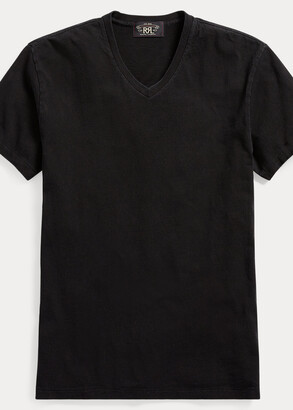Ralph Lauren Indigo Cotton V-Neck T-Shirt