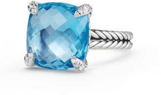 David Yurman Chatelaine Ring with Semiprecious Stone & Diamonds