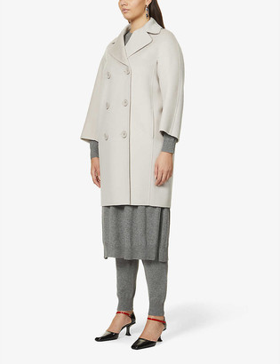 S Max Mara Anita double-breasted wool and cashmere-blend coat