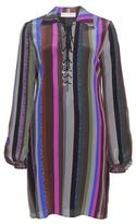 Emilio Pucci Striped silk tunic top