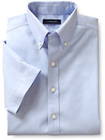 Lands' End Boys Short Sleeve No Iron Pinpoint-White
