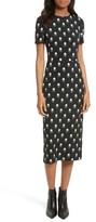 Diane von Furstenberg Women's Print Body-Con Midi Dress