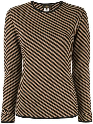 Fendi Pre Owned Diagonal Striped Jumper