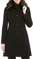 Preston & York Faux-Fur Collar Wool Walker Coat