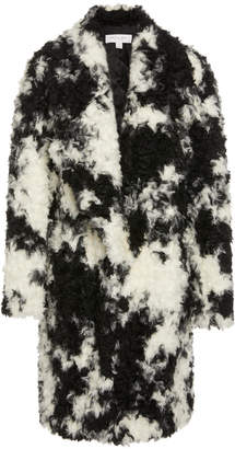 Michael Kors Two-Tone Faux-Fur Coat